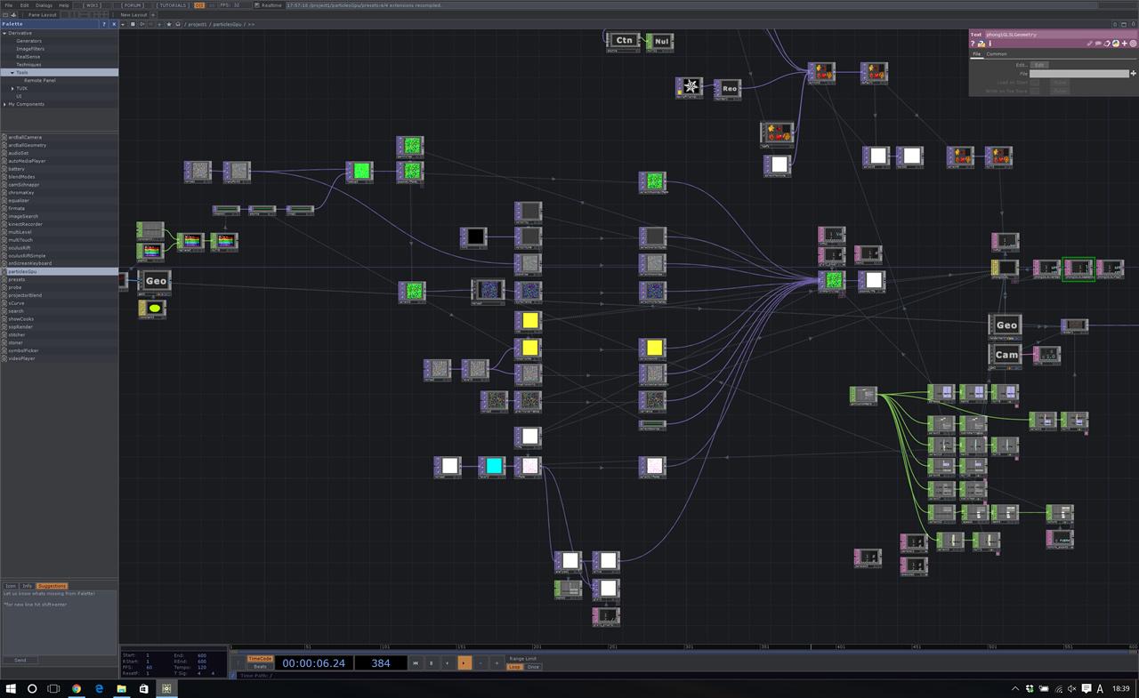 TouchDesignerのユーザーインターフェイス